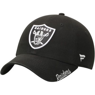 Oakland Raiders Pro Line Women's Fundamental Adjustable Hat - Black