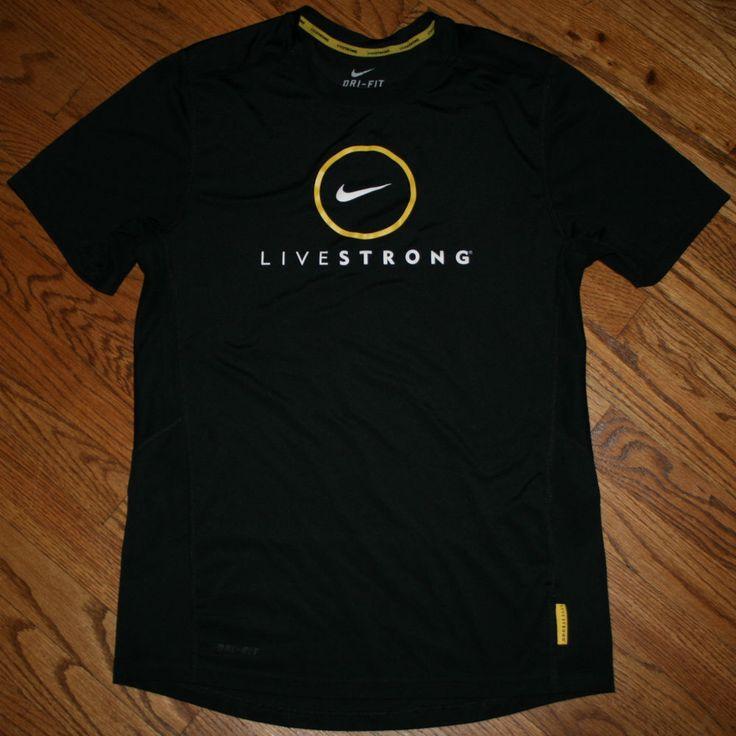 Nike Dri Fit Livestrong Black Running T Shirt Men 39 S Small