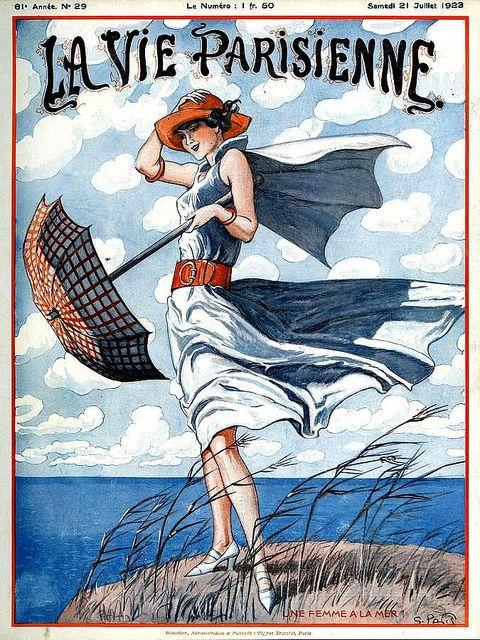 """""""La Vie Parisienne"""" magazine (July 21, 1923) - Cover illustration by Georges Pavis"""