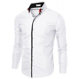 Mens Slim Fit Shirts With Double Collar (CMTSTL087)
