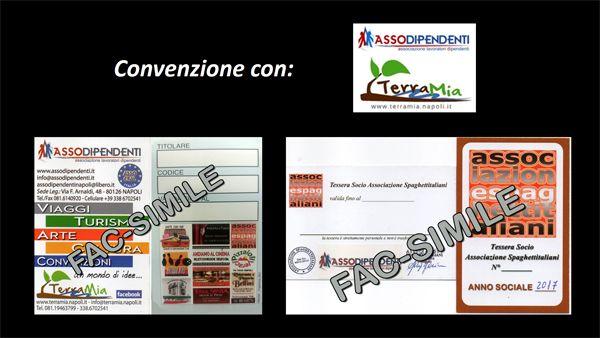 Abbiamo stipulato un accordo con AssoDipendenti di Napoli con cui i nostri Soci potranno usufruire delle loro convenzioni e viceversa. http://www.spaghettitaliani.com/Convenzioni.php