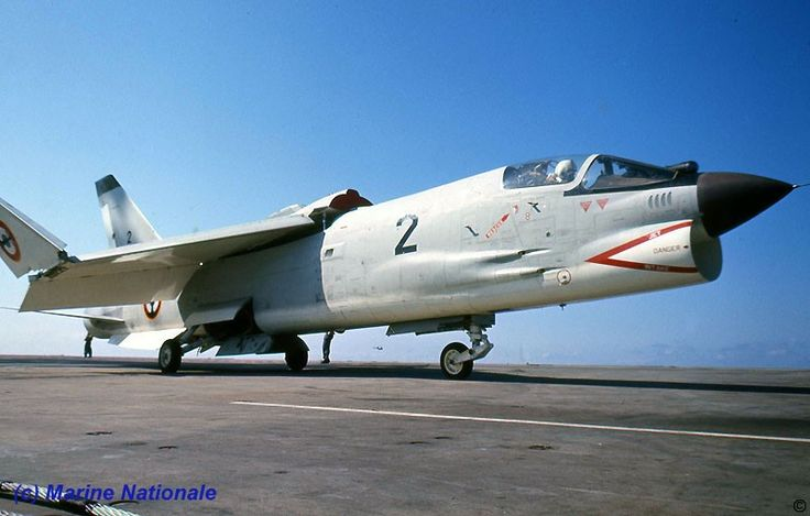 French Marine Nationale Aeronavale (French Navy air arm) Vought Crusader with IR sensor during it's early career.