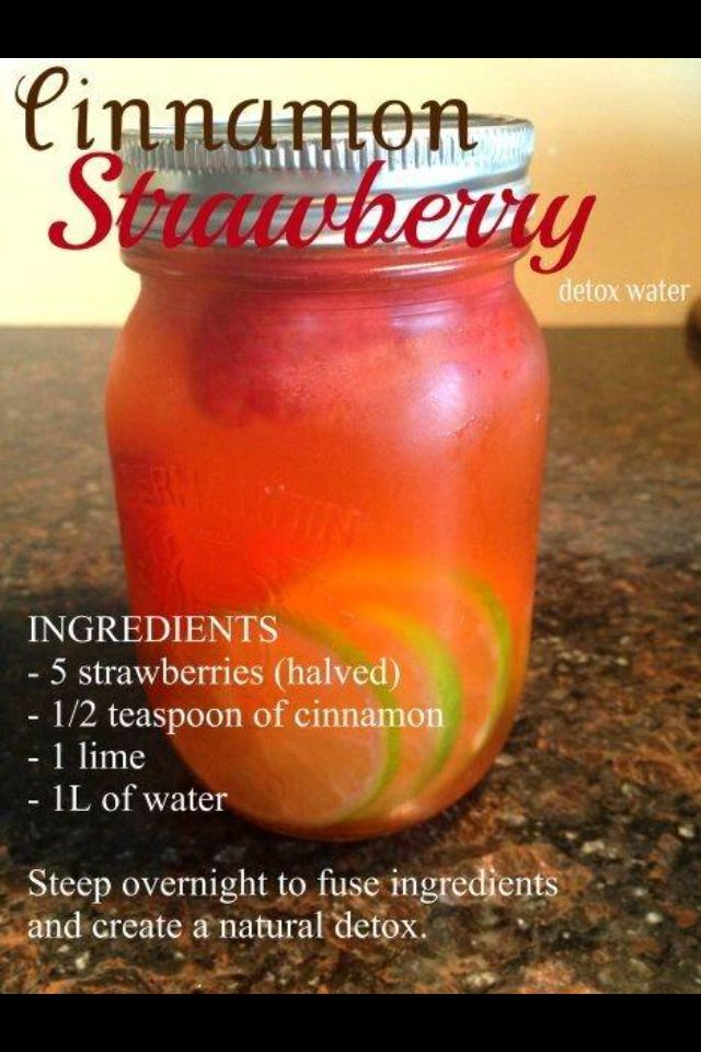 CANCER DIET DRINK RECIPE - 5 strawberries, half teaspoon cinnamon, 1 lime & 1 liter of water ♥ I LIVER YOU ♥ www.CancerDiets.org