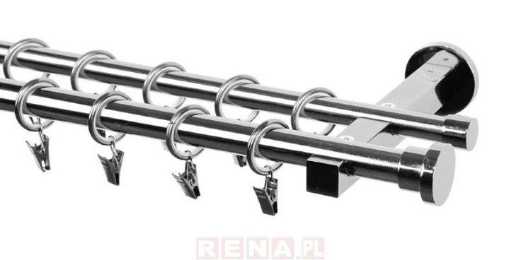 Karnisz podwójny Delia 20/16 Cylinder. Zobacz szczegółowe informacje na: http://www.rena.pl/karnisz-podwojny-delia-fi-2016-mm-cylinder-o_14992.html