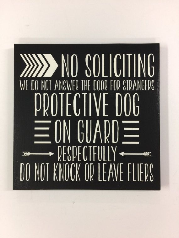 Hey, I found this really awesome Etsy listing at https://www.etsy.com/listing/507972455/11x11-no-solicitation-sign-no-soliciting