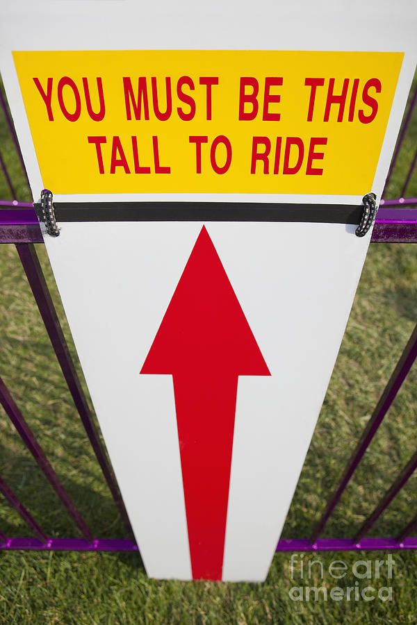 Height Requirement Sign - fun prop idea for Berry Blast!