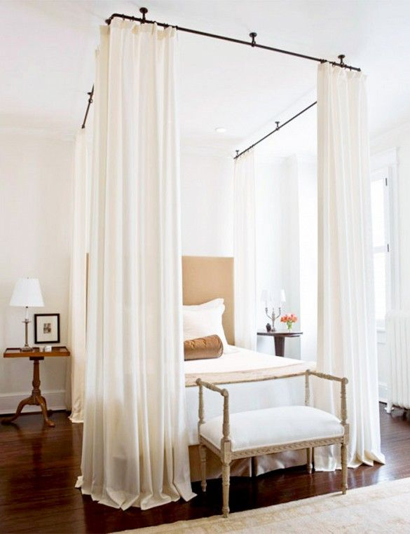 17 Solutions To Common Small E Problems N V I R O M T S Pinterest Bed Curtains Canopy Bedroom And Decor