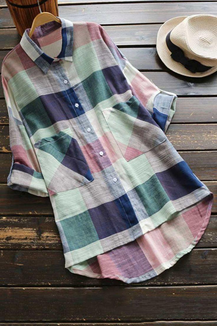 Cupshe Dwell on Dreams Plaid Shirt