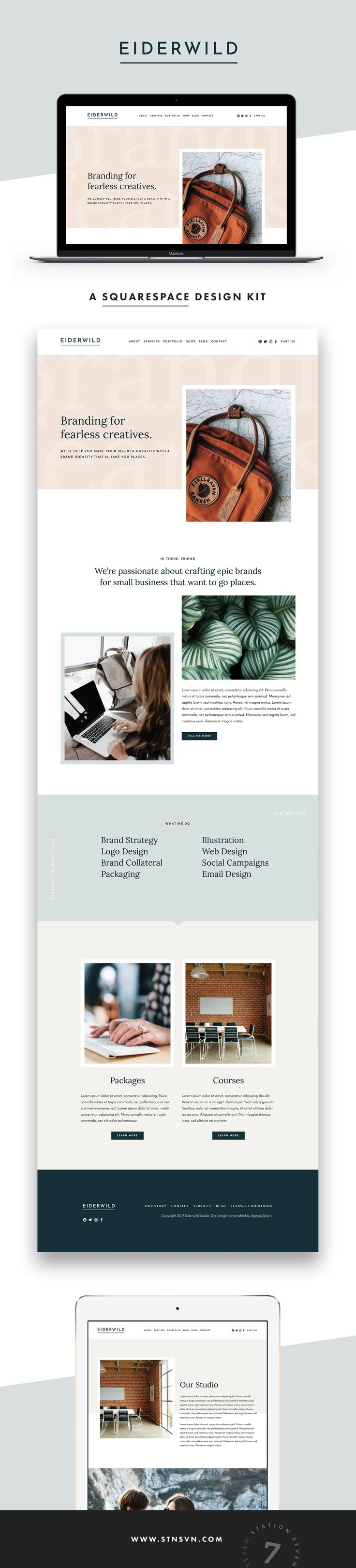 Eiderwild Squarespace Kit - Station Seven WordPress Themes