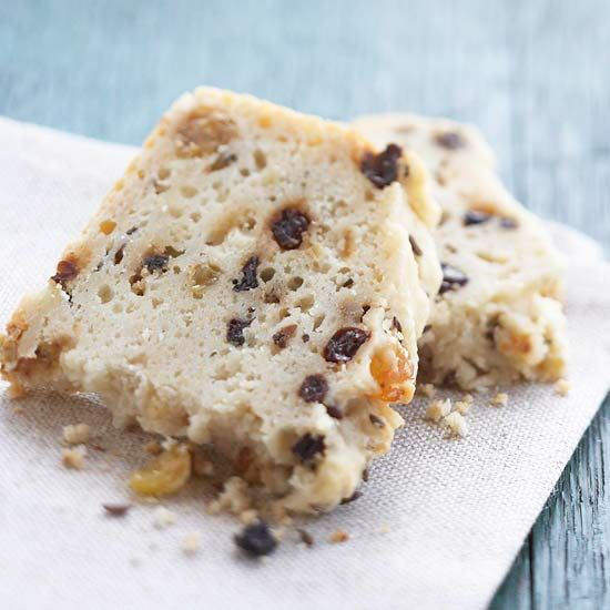 Irish Soda Bread: Traditionally, Irish soda bread was made from just flour, buttermilk, baking soda, and salt. BHG's recipe adds a bit of sugar, dried currants, golden raisins, and caraway seeds for flavor.