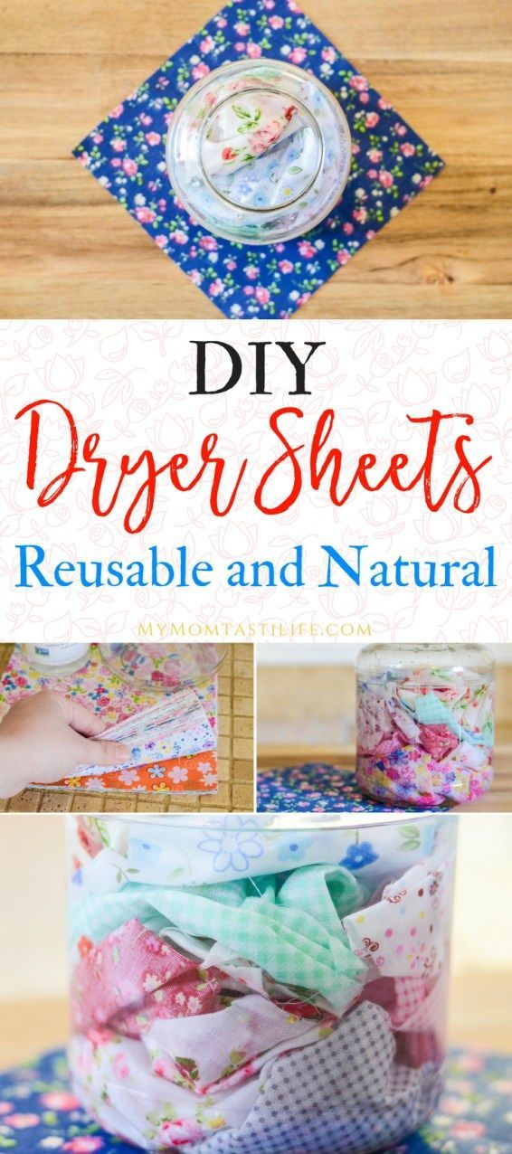 DIY Dryer Sheets - Reusable and Natural.  These DIY dryer sheets are simple, natural, and safe for sensitive skin. Ditch the store-bought dryer sheets for good! #DIY #Natural #Homestead #ecofriendly