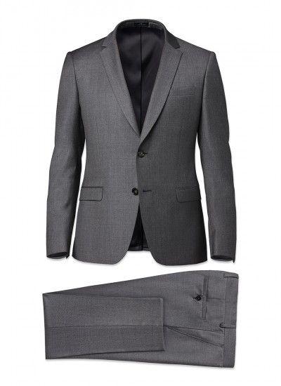 Costume homme Laine Super 130's AAAAA : Achetez votre costume homme gris micro dessin 15HC3MILY-E524/29 et découvrez la collection de costumes hommes De Fursac.