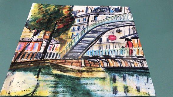 Paysage Aquarelle Bridge Art Grand Canal Saint Martin Paysage