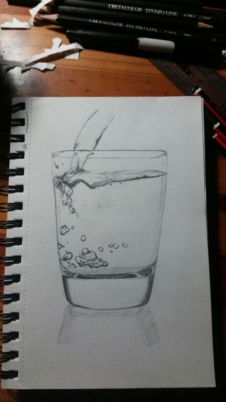 Glass of water Sketch