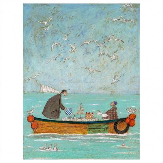 Sam Toft - Sea Time Tea Time limited edition print