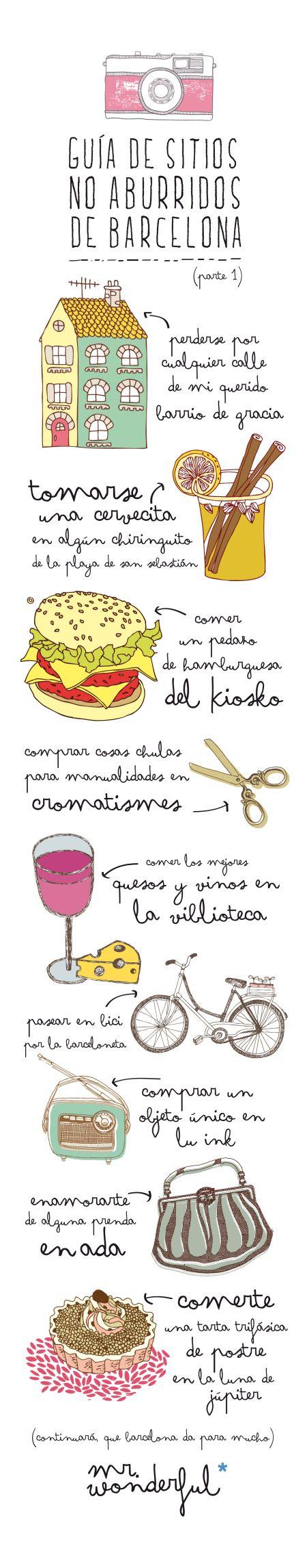 Guía ilustrada de Barcelona de Mr. Wonderful