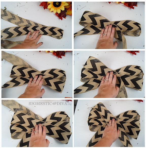 How to Make a Chevron Burlap Bow for a Wreath: The Perfect Fall Wreath Tutorial