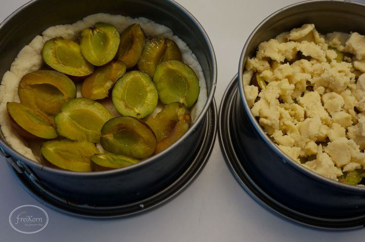 glutenfreier Zwetschgenkuchen mit Streuseln