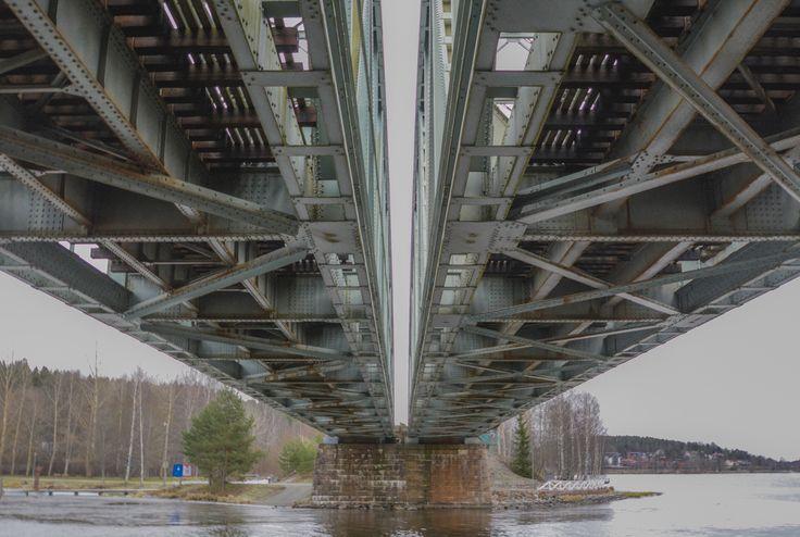 The railway bridge of Hämeenlinna from year 1925