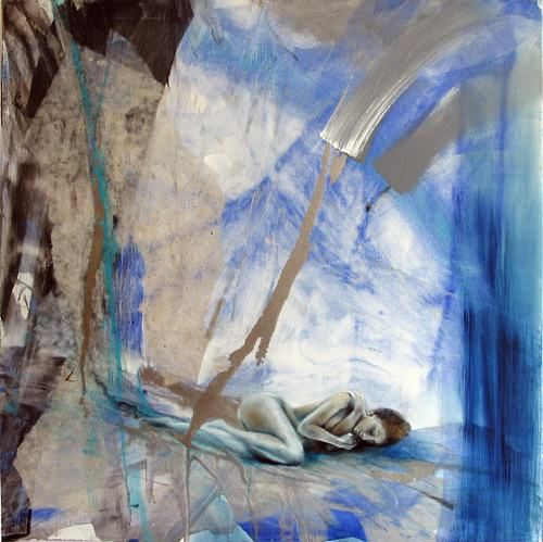 """Annette Schmucker, """"Im blauen Raum_"""" With a click on 'Send as art card', you can send this art work to your friends - for free!"""