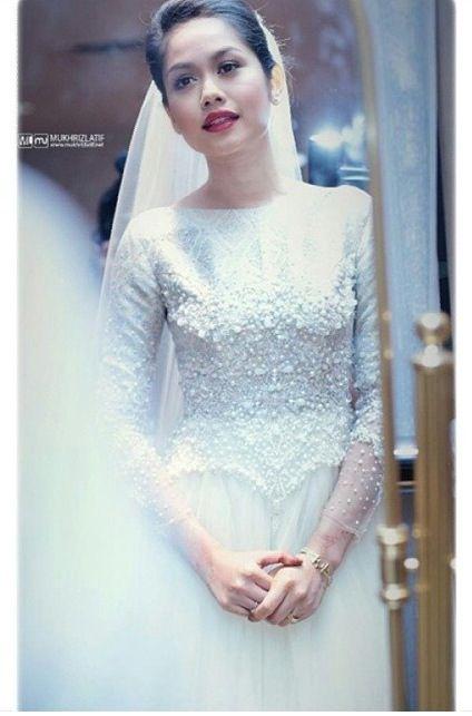 Rizman ruzaini for Liyana Jasmay   Muslim Wedding Dress ...