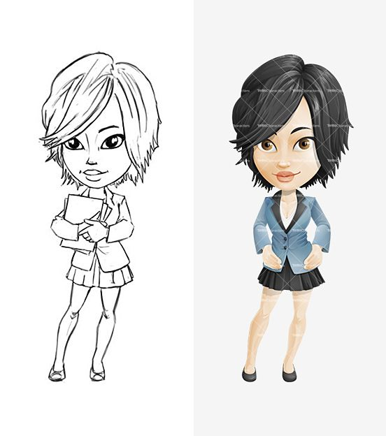 Cartoon Characters With Short Hair : Girl cartoon character with short haircut