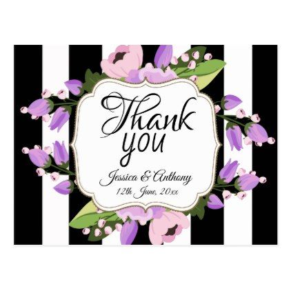 Wedding 'Thank You' Postcard - postcard post card postcards unique diy cyo customize personalize