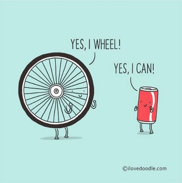 Adorable, Optimistic Pun-Filled Doodles That Will Brighten Your Day - DesignTAXI.com