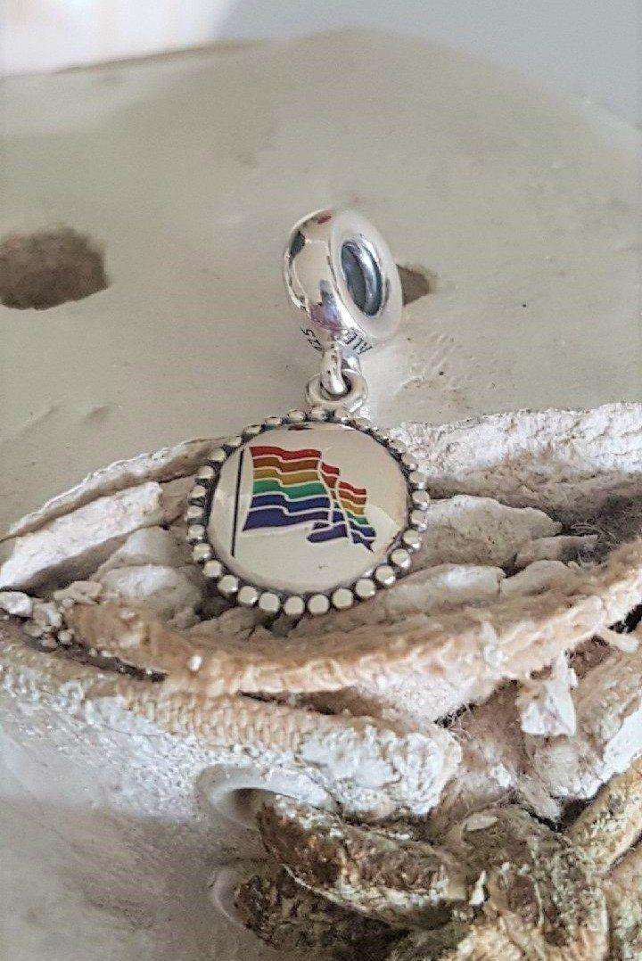 8e2f9f8cf Authentic Pandora Rainbow Flag Dangle Charm Multi Colour Enamel Sterling  Marked S925 ALE Cdn Excl. Personal'd Edn PRIDE Item# EG 791169-4935