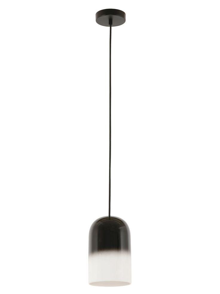 Maceda 1 Light Pendant in Black/White