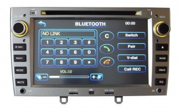 Autoradio DVD GPS PEUGEOT 408/308 avec ecran tactile & fonction Bluetooth,USB,TV,Can Bus,Ipod