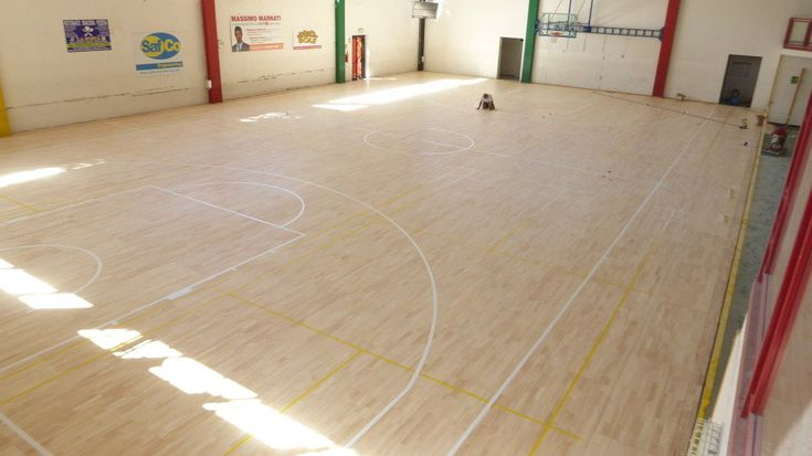 The #maintenance of the removable sports #parquet ended with great satisfaction for plant operators