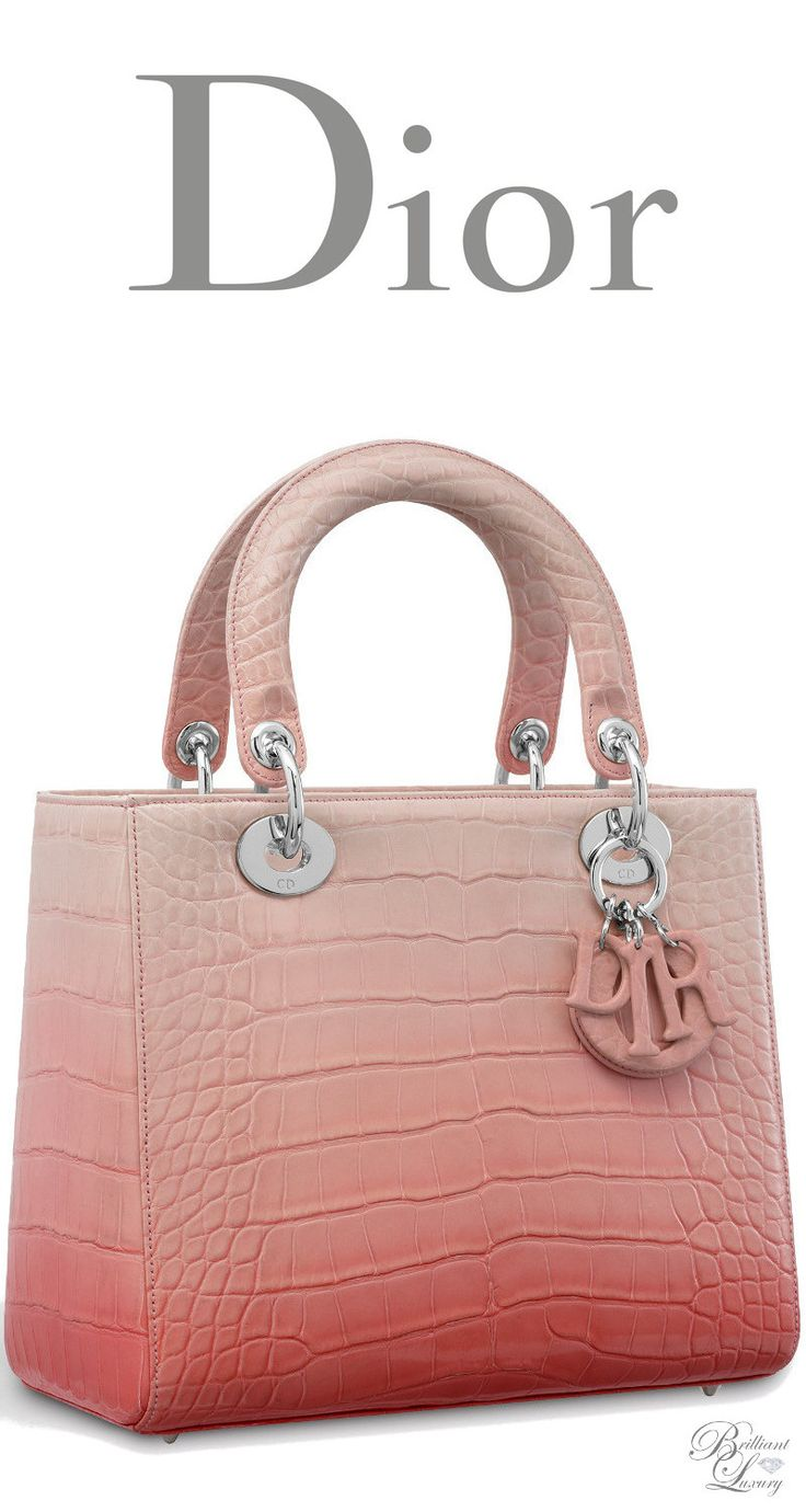 Brilliant Luxury Dior Autumn 2017 Lady Bag In Shiny Graded Pink Alligator