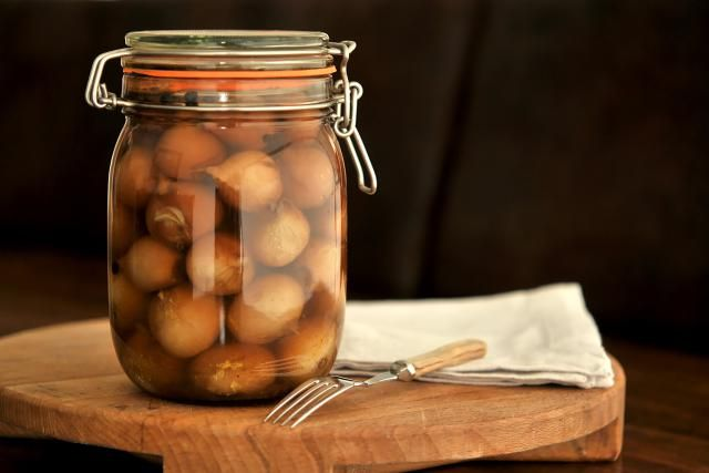 Pickled onions are a treasure in the British larder; no pie or Ploughman's would be seen without one. So easy to make with just a little time needed.