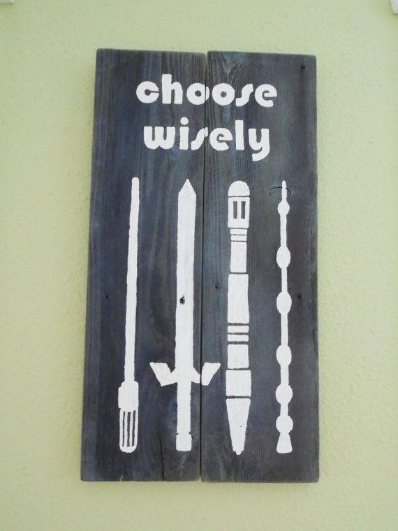 Choose Wisely Zelda Harry Potter Star Wars Dr by EmeraldCityRustic