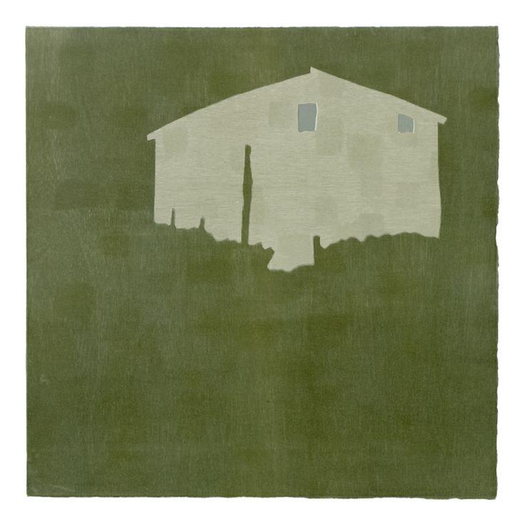"""inu"" Woodblock printing, oil based ink printed on paper, 2004, 79x79cm, by Yasuyoshi Tokida, 常田泰由 http://yasuyoshitokida.web.fc2.com/"