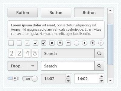 Free UI Kit found on Dribbble.