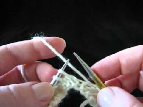 maglia dritta filo sx metodo continentale Continental Lesson - The Knit Stitch