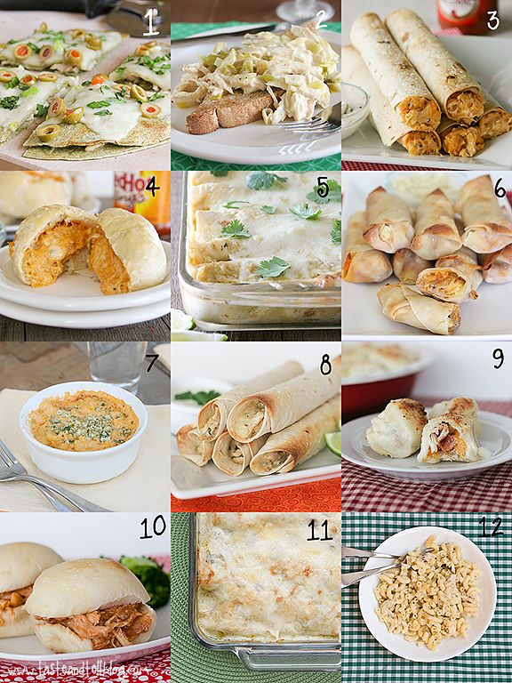 24 way to use shredded chicken!