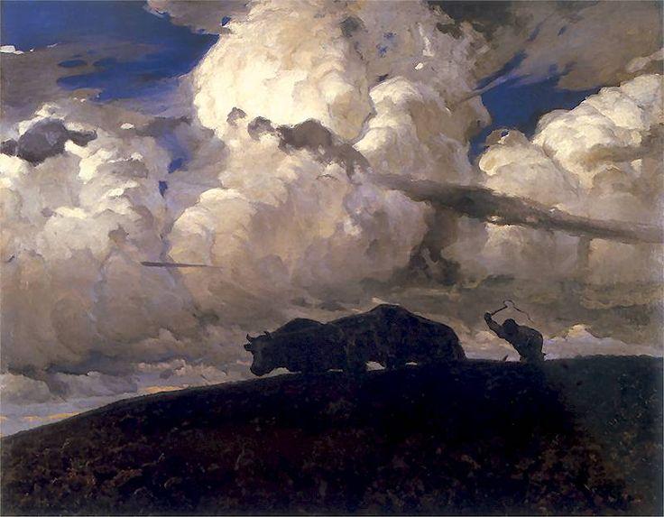 Earth, 1898, Ferdinand Rushchyts. Polish (1870 - 1936)