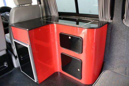Camper campervan conversion pod unit vw t4 t5 renault for Camper van kitchen units