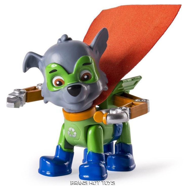 Paw Patrol - ROCKY Super Pups Figure in Uniform Mask Cape NEW RELEASE #SpinMaster
