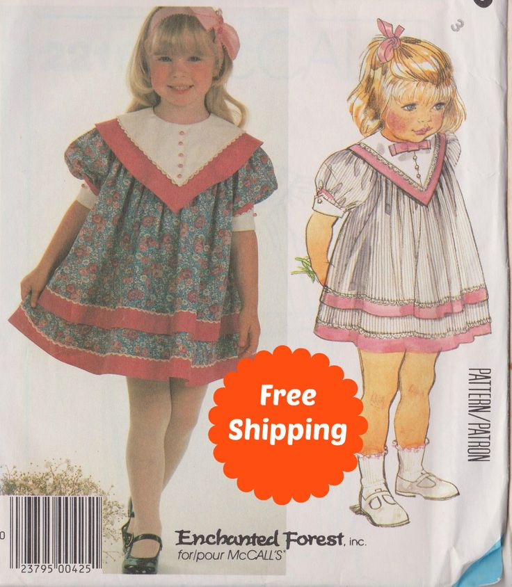 Sewing Patterns for Girls Party Dress Easter Dress Sewing Patterns for Children Girls Pattern Baby Dress Toddler Pattern McCalls 2216 Size 3 by PatternsFromOz on Etsy