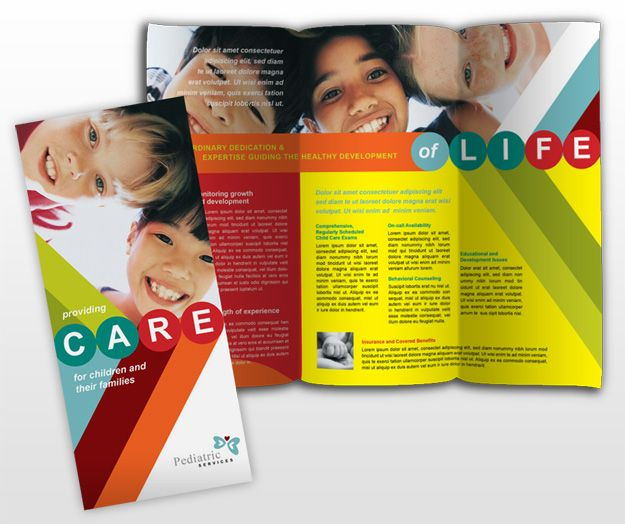 Printable Travel Brochure Template For Kids: Daycare Brochure Design #ideas . Pediatrician & Child Care