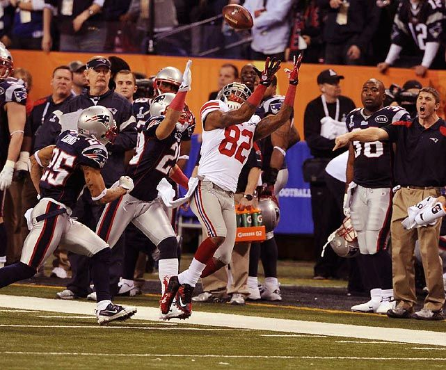 Image result for mario manningham super bowl catch