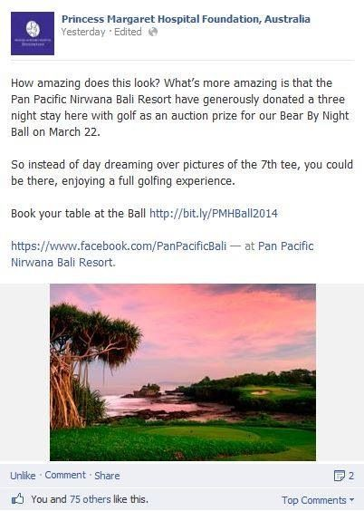 Pan Pacific Nirwana Bali Resort on Princess Margaret Hospital for Children (PMH) FB page #Bali #resort #golf #indonesia #PMHFoundation