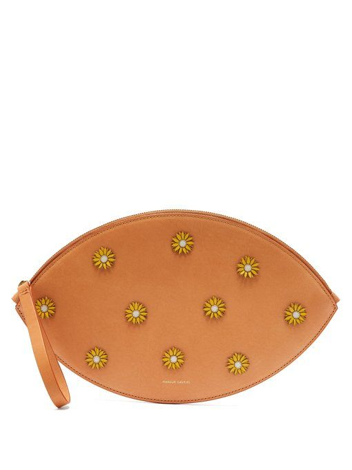 Mansur Gavriel Cammello floral-embellished oval clutch  922e329b80f7b