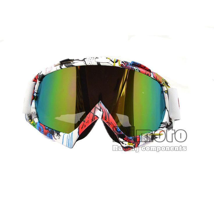 Mais novo Colorido Do Vintage Off Road Motocross Óculos De Proteção Óculos de Proteção UV Para A Motocicleta Da Bicicleta Da Sujeira