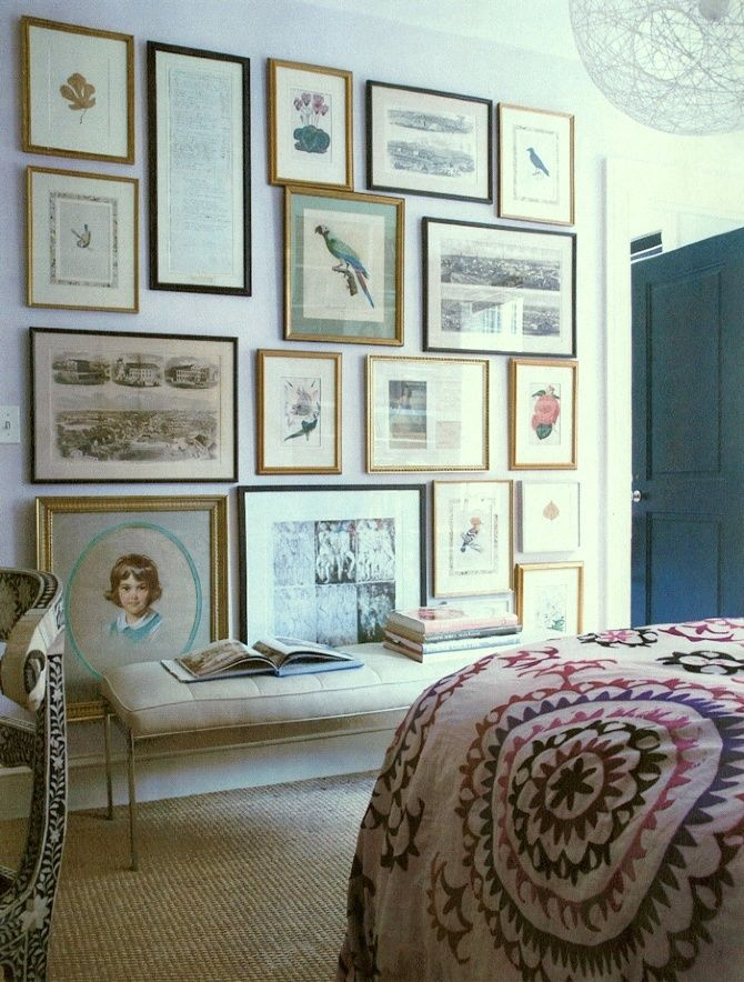 25 best images about eclectic gallery wall on pinterest eclectic artful entryway gallery - Eclectic picture frame wall ...