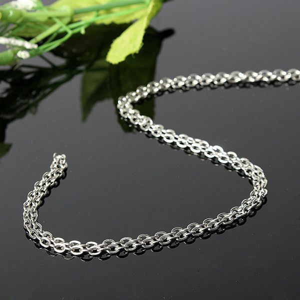 Cadena de metal plateado 5M DIY Accesorios de ropa de joyería